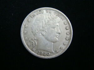 1900 Barber Silver Half Dollar XF Cleaned 20421