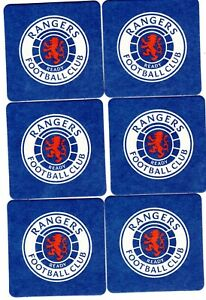 RANGERS F.C. Pack of Official Crested Beer Mats / Coasters FREE POST UK Blue