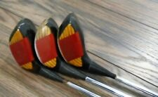 PING EYE 2 DRIVER SET 1 3 7 REAL WOOD DYLAGRIP STEEL VINTAGE!!