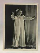 Shirley Temple 1937 Union Dresden Film Star Series 8 5 X 7 Cigarette Photo Card