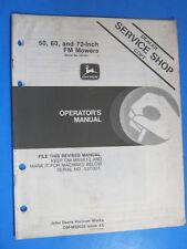 John Deere 50 60 72 Fm Mowers Operator'S Manual Oem Factory Original