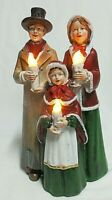 Williamstown Home VTG Led Victorian Christmas Carolers /Candles Light Up