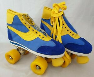 80er Jahre Disco Rollschuhe - ungetragen - Vintage 80s Roller Skates / Gr. EU 39