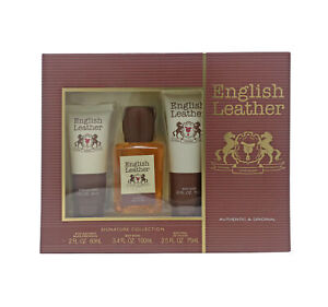 Dana English Leather Signature Collection 3-Piece Gift Set  New In Box