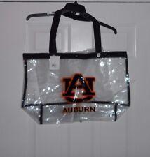 AUBURN UNIVERSITY TIGERS AU Logo Clear Stadium Large Heavyweight Tote Bag