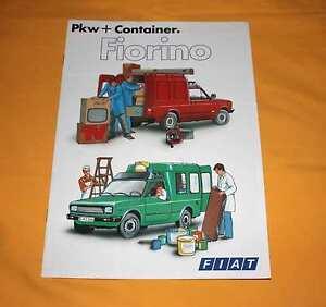 Fiat Fiorino 1981 Prospekt Brochure Prospetto Catalogue Depliant Catalog 127