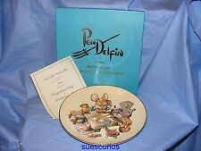 Pendelfin Gingerbread Day Plate Royal Grafton - Boxed