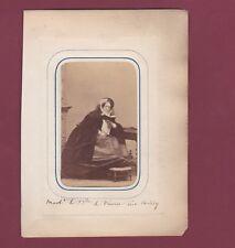 CDV DISDERI - 120913 - Madame la Duchesse de ??? née Canily - Napoléon I - 1861