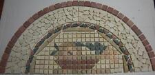 Rosone Mosaico Marmo su Rete 60,7 x 30,3 Semicerchio Cucina Salotto Rivestimenti