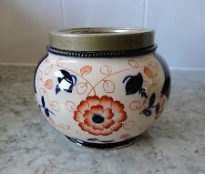 RARE Vintage/antico in ceramica W. Wood & Co GAUDY WELSH BURSLEM Scatola per biscotti