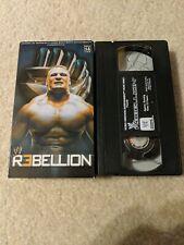 WWE Rebellion 2002 VHS
