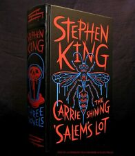 Stephen King 3 Novels ~ Leather Bound First Edition: Carrie, Shining Salems Lot