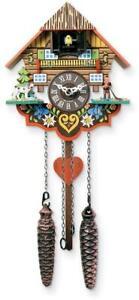 Musical Multi-Colored Quartz Cuckoo Clock Made in Germany
