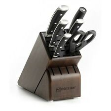 Wusthof Classic Ikon - 7 Pc. Knife Block Set w/Walnut Block