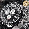 Men's Luxury Military Stainless Steel Strap Analog Date Sport Quartz Wrist Watch