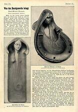 Neue Wiener Bronzen des Tiroler Künstlers Gustav Gurschners Kunstgewerbe v.1901
