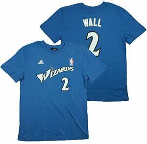Adidas NBA Youth Boy's Washington Wizards John Wall #2 Gametime T-Shirt, Blue
