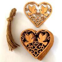 10pcs Wooden Birds Pattern Craft Ornament Christmas Tree Hanging-Decorations