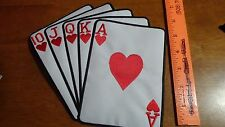 CASINO GAMBELING DECK OF CARDS PATCH ACE OF SPADES PLAYING CARDS  PATCH BX XL