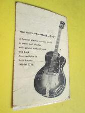 MEGARARE Vintage '53 GUILD X-350 STRATFORD 3 Pickup Archtop Guitar HANG TAG !