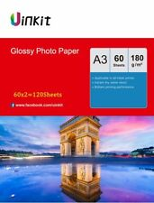Uinkit 120 Sheets A3 180Gsm High Glossy Photo Paper Inkjet Paper Printer 420x297