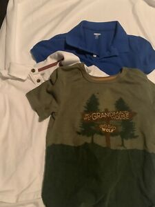 5t Polo Old Navy Lot White Blue Extra 5t Shirt