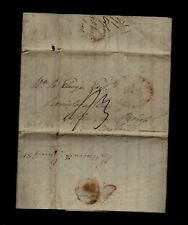 1813 Portsmouth, Rhode Island stampless Long Ship Letter to Bristol England