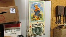 1954-55  Tomahawk Hybrid Corn Calendar Belmond Iowa