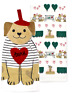New French Amour Kitchen Dish Towel Set (2) Pack