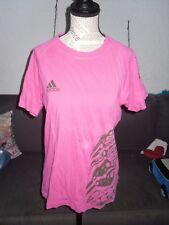 T-shirt large rose fuschia marron femme ADIDAS taille 36 / 38