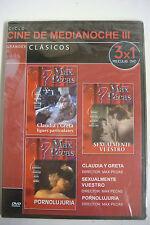 D.V.D CLASICOS DEL CINE DE MEDIANOCHE II  LOTE DE 21 PELICULAS EN 7 DVD