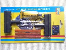 Kit de Réparation Crevaison Pneu 2 Outils 3 Mèche+Colle Voiture, Moto, Scooter