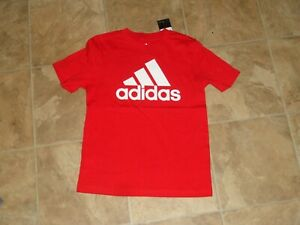 Boys Adidas Red Short Sleeve Shirt Size 6 NWT