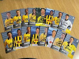 """Borussia Dortmund Legends Signed 6"""" x 4"""" Official Club Promo Cards x 16"""