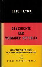 Eyck, Historie Weimarer Republik 2: von Locarno bis Hitler Machtübernahme, 1972