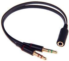 zdyCGTime Nero 3.5 mm maschio a 3 RCA femmina Adattatore cavo video audio