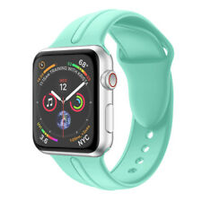 Silicone Wristband Watch Band Bracelet Strap for Apple Watch Series 4 40mm, 44mm