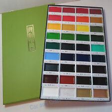ZIG Kuretake Gansai Tambi Japanese Watercolor Paint 36 Colors Set MC20/36V JDM