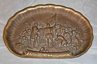 Original Bronze Tray Landing of Columbus Columbian Exposition 1893 Rare Beauty!
