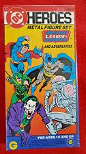 DC Heroes JLA Justice League Metal Figure Set 1985 NEW Sealed Mayfair Games