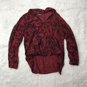 ROCK & REPUBLIC WOMEN Red Black Long Sleeve Size XL