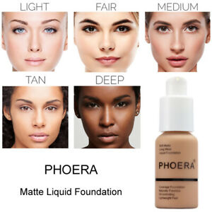 PHOERA Matte Full Coverage Liquid Foundation Conceale Powder Face Cream Hot Sell