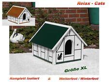 1.Katzenhaus Wetterfest Voll Isoliert Katzenhöhle Wurfkiste Outdoor - Relax-Cats