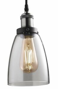 NEW Feit Vintage DIMMABLE LED Light BRUSHED NICKEL Pendant Fixture