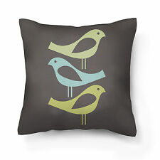 Grey designer cushion cover 18x18 inches, Poplin with consealed zipper