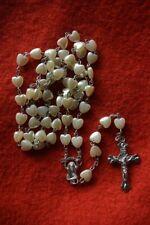 N° 40 Chapelet catho chrétien rosaire religieux croix pèlerinage perles coeur
