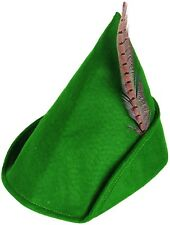 Hombre Mujer Verde Tela Robin Hood Película Festival Disfraz Sombrero