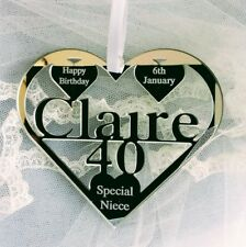 40TH  BIRTHDAY GIFT PERSONALISED WITH NAME ,CLAIRE , BIRTH DATE, KEEPSAKE