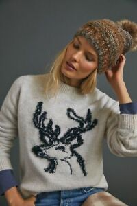 Anthropologie Oh Deer Sweater S NEW