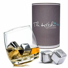 Rocking Whiskey Glass & Whiskey Stones Ice Cube Gift Set, Brandy / Spirits Glass